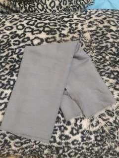 Kerudung saudia grey