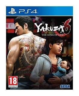 🚚 Yakuza 6 PS4