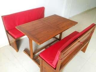 Meja Makan jati boot cocok untuk dirumah atau rumah makan