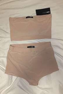 fashion nova nude shorts set