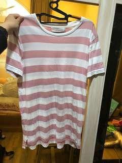 🚚 粉色 條文上衣