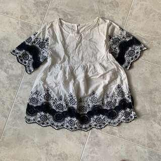 Embroidery babydoll top