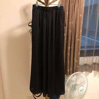 🚚 Net 緞面黑長裙