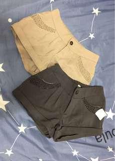 🚚 🤟Amber-全新-不敗款半伸縮腰短褲-2色
