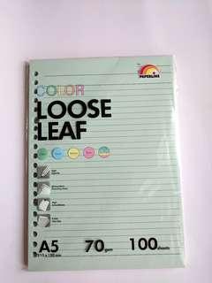 PAPERLINE COLOUR LOOSE LEAF A5