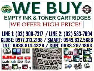 Highest PRICE BUYER OF NEW EXPIRED EMPTY INK AND TONER CARTRIDGES