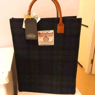 Harris Tweed 格子袋