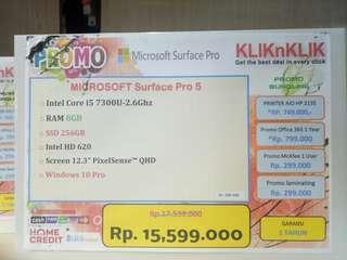 Dijual Laptop Microsoft Surface Pro 5