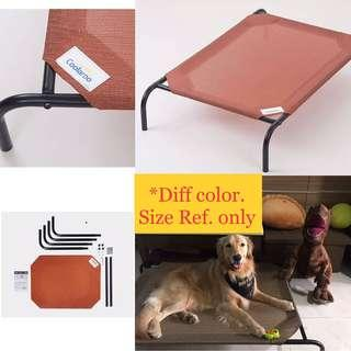 🚚 LARGE BN Coolaroo Elevated Pet Bed with Knitted Fabric, Terracotta for dog n cat