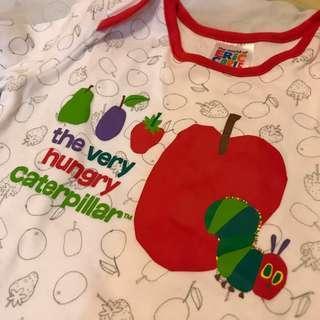 The Very Hungry Caterpillar 6-9M嬰兒包腳夾衣 #newbieMar19