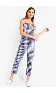 🚚 Zalora Basic Square Neck Fitted Jumpsuit