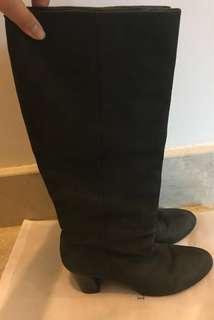 High heel boots (Genuine cow skin)