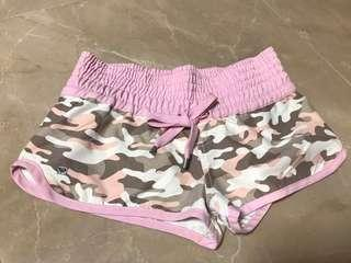 Roxy 粉紅色迷彩花沙灘游泳滑水短褲 pink Camouflage pattern swimming surfing beach shorts #flashthurs
