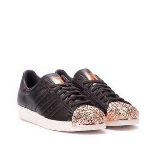 Adidas Superstar 80s, Black and Copper Metal Toe