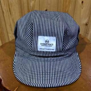 🚚 UNDER PEACE  黑白 條紋 軍帽 Nigo著 馬力歐 報童 帽