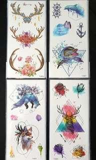 Temporary Tattoo ↪ 💱 $2.50 Each Sheet/ $6.00 for 3 Sheets
