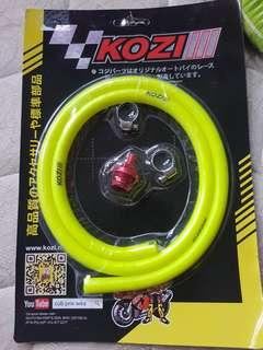Engine oil breather hose yellow