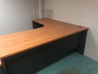 L-Shaped working Table.