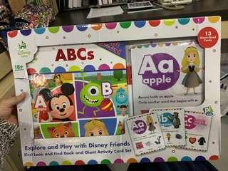 🚚 First Look And Find & Giant Write -and-Erase Activity Card Set - Disney Baby