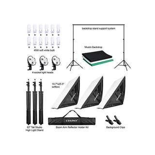 🚚 Professional Studio Complete Lighting Kit