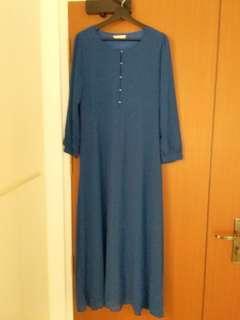 Muslimah Blue Dress