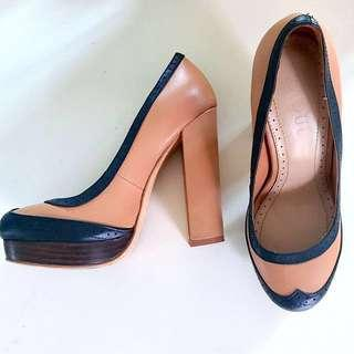 [Free Shipping] RAOUL Leather Platform Court Pumps