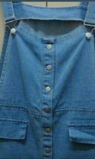 🚚 淺藍吊帶裙