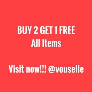 Buy 2 Get 1 All Items