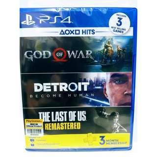 God of war, Detroit become human, The last of us bundle