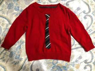 🚚 Gymboree 紅色針織毛衣