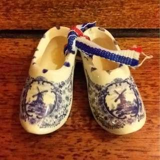 荷蘭陶瓷木屐鞋裝飾品
