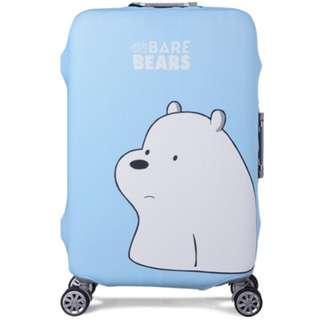 white barebear luggage cover.