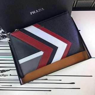 ff9eb22476b4 Prada Clutch bag not LV Gucci versace burberry bally