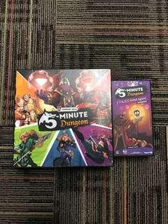 5 minute dungeon ks  (used) + expansion ( cards sealed)