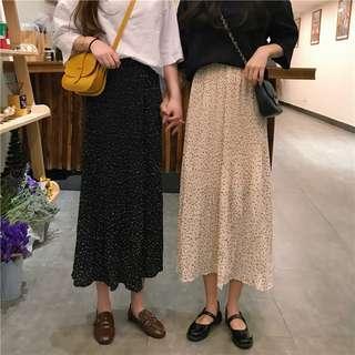 Women Dots Chiffon Skirts