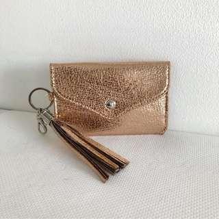 Rose gold card holder