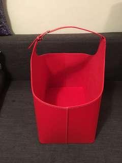 紅色禮物籃 果籃 雜物籃 收納籃