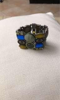 Colourful gemstones bracelets