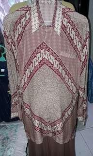 Jual Kemeja Batik Sutra Size L