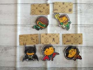 DC SuperHero 5 pics limited embroidered patch collection