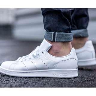 Stan Smith Triple White Leather Sneakers
