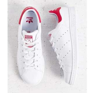 Stan Smith Red White Leather Sneakers