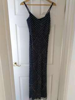 Adrianna Papell Gatsby dress - navy size 8