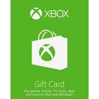 Xbox live US Wallet Code