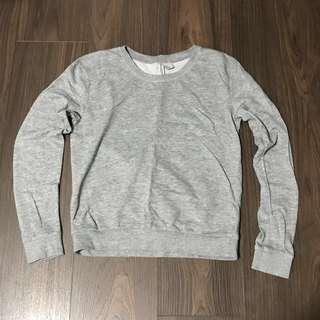 H&M Basic Divided Plain Grey Pullover