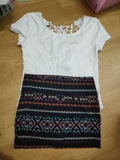 White laced top and skirt