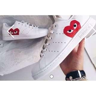 Stan Smith x CDG White Leather Sneakers