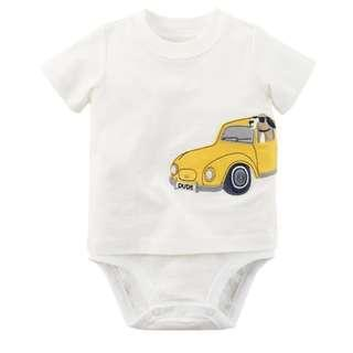 Carters Boy White Tee-look Bodysuit