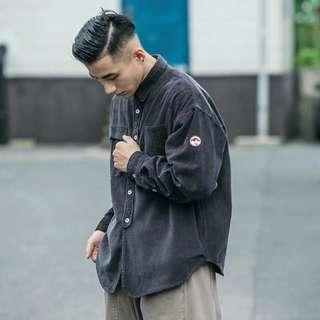【 Gshop.】燈芯絨襯衫男長袖新款日系復古工裝寬鬆襯衫外套