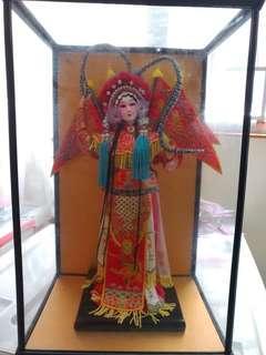 全新 12吋穆桂英娃娃連玻璃盒